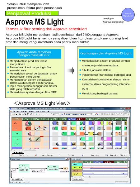 Asprova MS Light(インドネシア語)