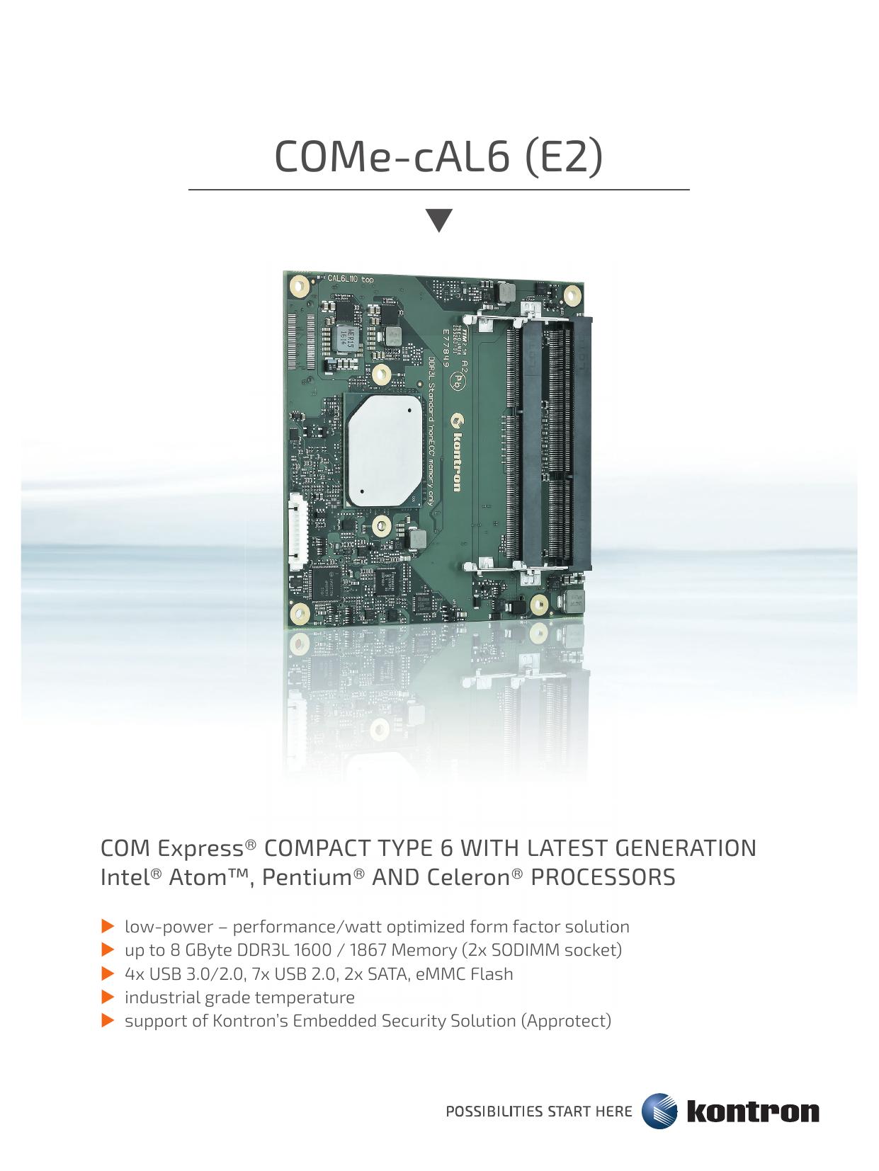 COM Express compact モジュール COMe-cAL6