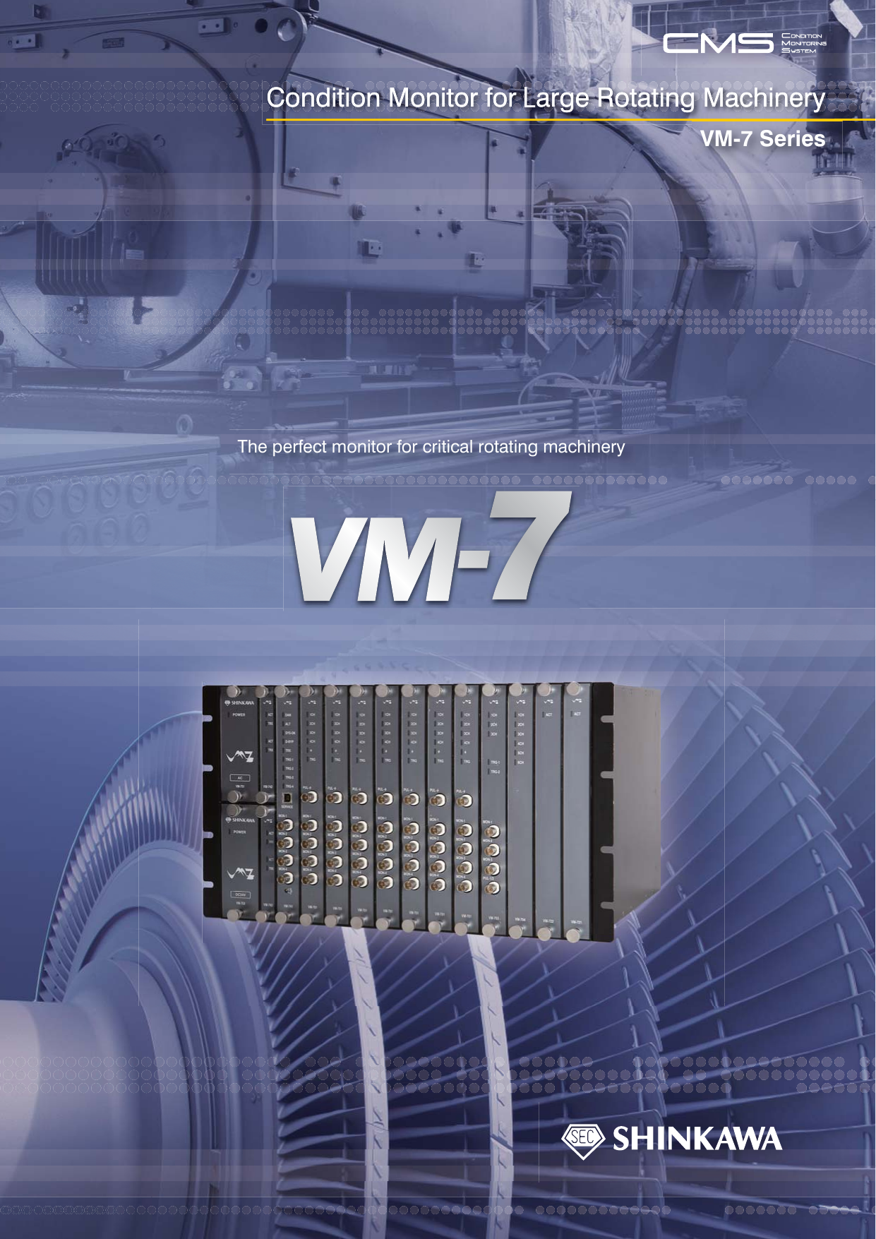 Condition Monitor for Large Rotating Machinery VM-7 Series