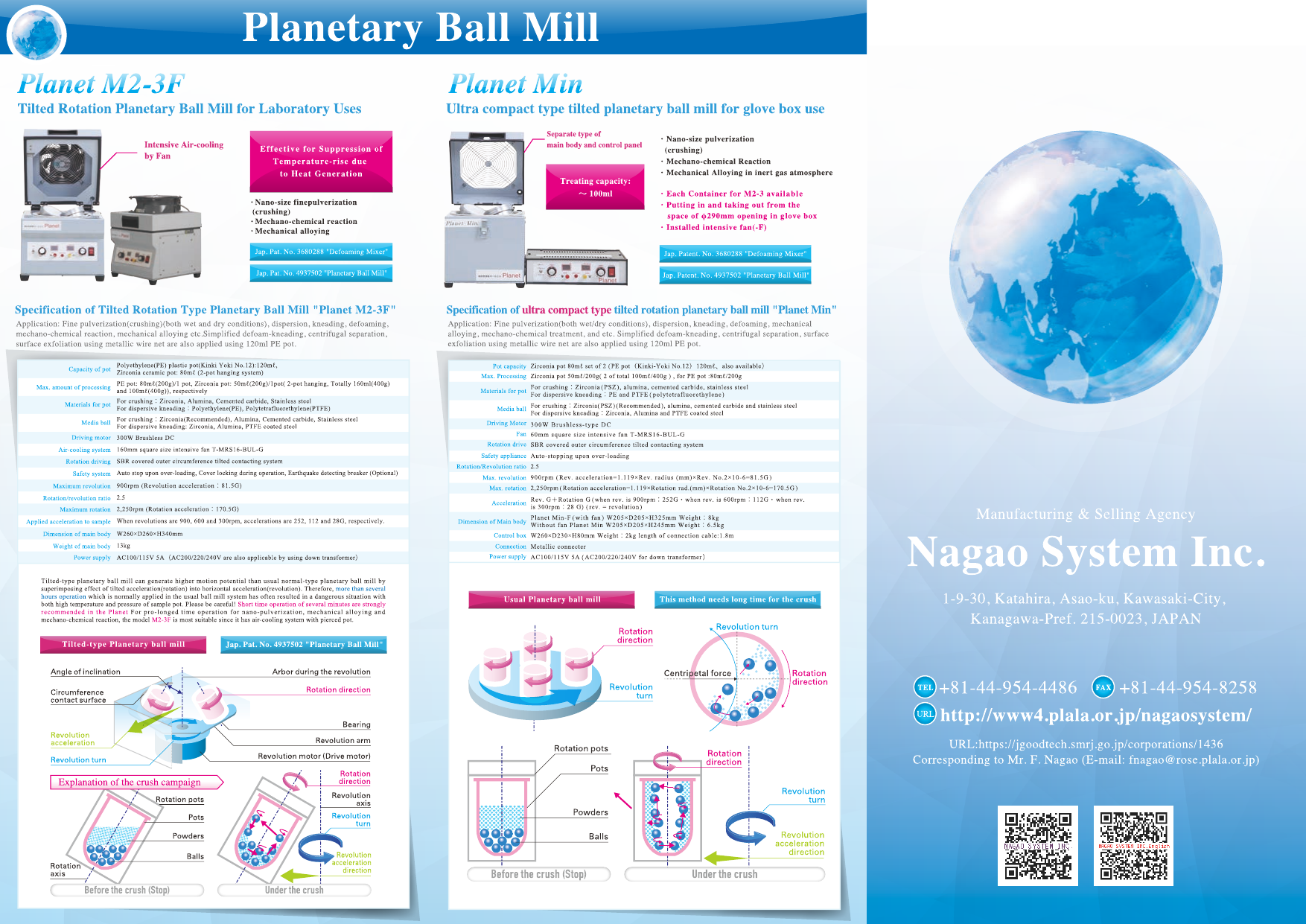 NAGAO SYSTEM INC. 2D,3D Ball Mill Leaflet.
