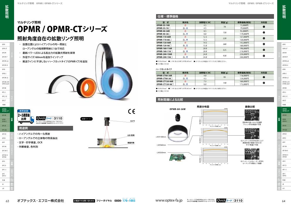 マルチリング照明OPMR / OPMR-CTシリーズ