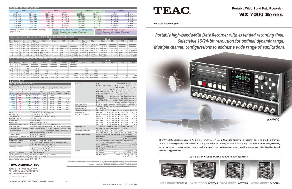wideband data recorder WX-7000