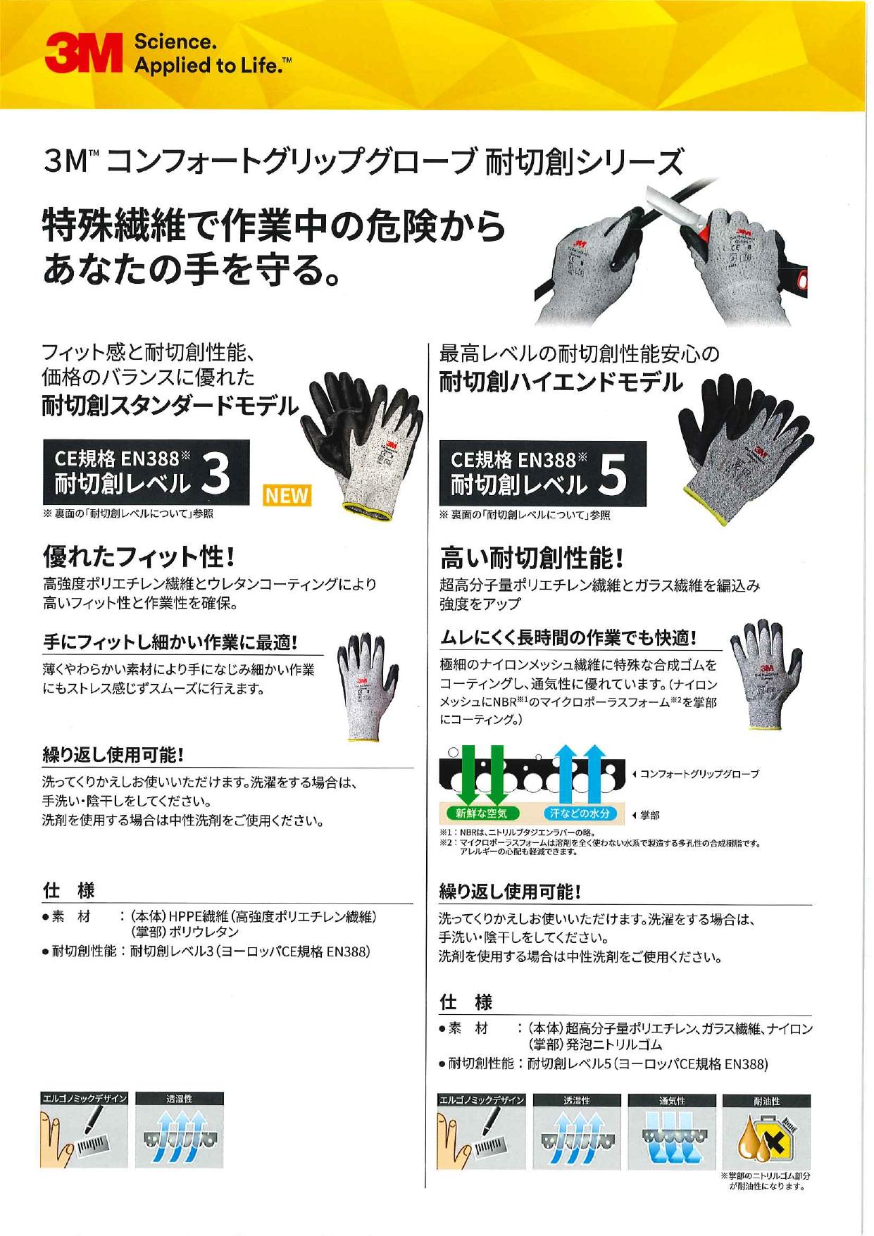 3M(TM) 耐切創手袋