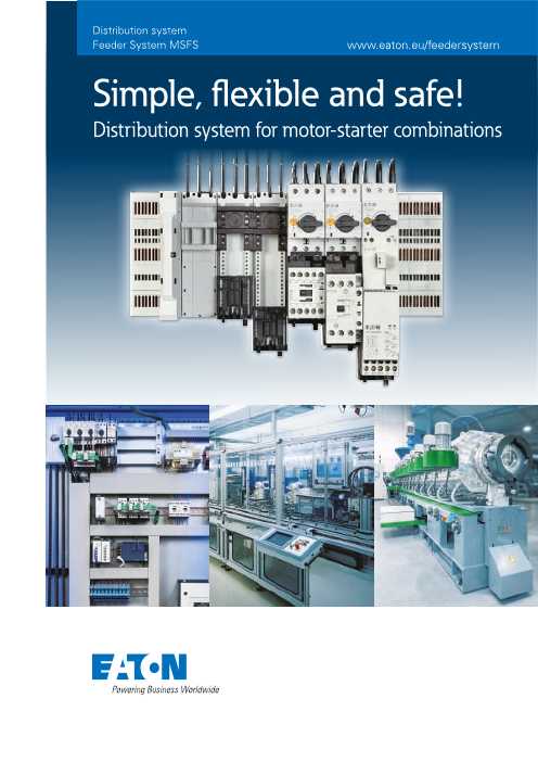 Simple, flexible and safe!  Distribution system for motor-starter combinations
