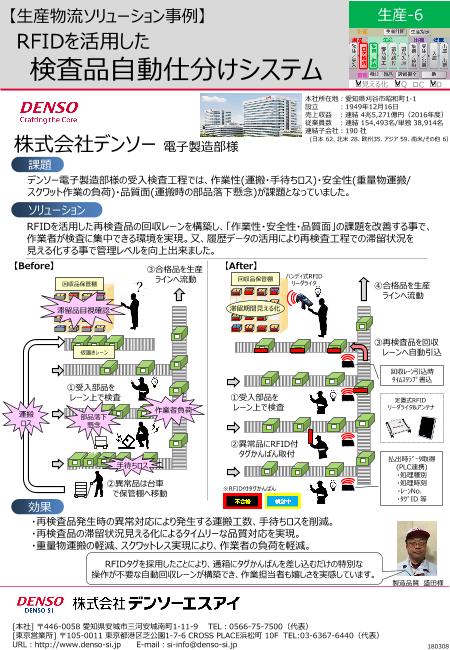 RFIDを活用した 検査品自動仕分けシステム