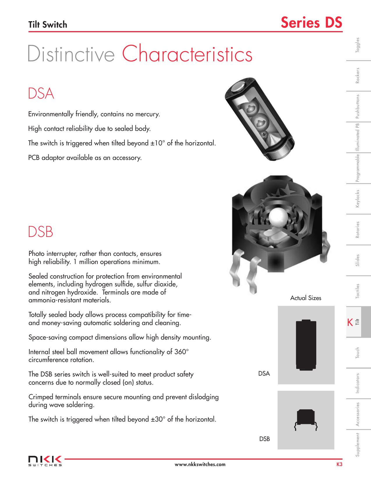 Tilt Switches (DS)