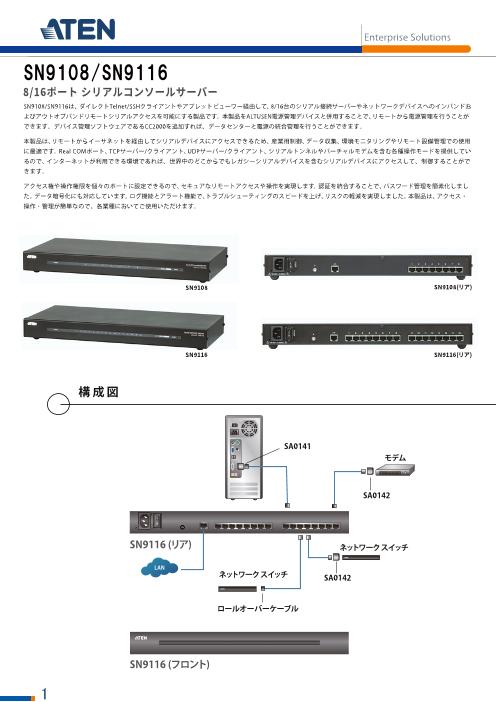8ポート シリアルコンソールサーバー SN9108