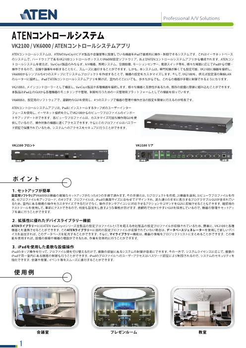 ATENコントロールシステム - コントロールボックス VK2100