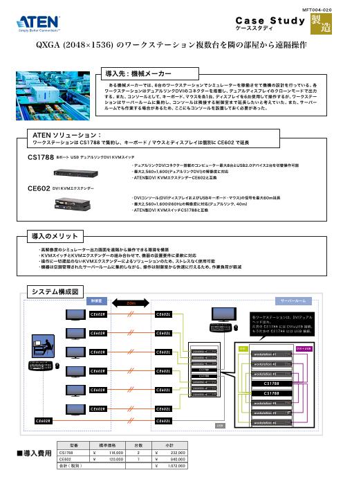 【事例紹介】QXGA(2048×1536)のワークステーション複数台を隣の部屋から遠隔操作
