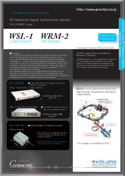RF Reference Signal Transmission System WSL-1 / WRM-2