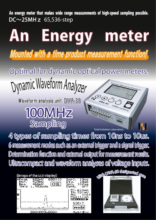 An Energy meter Waveform analysis unit DWA-30