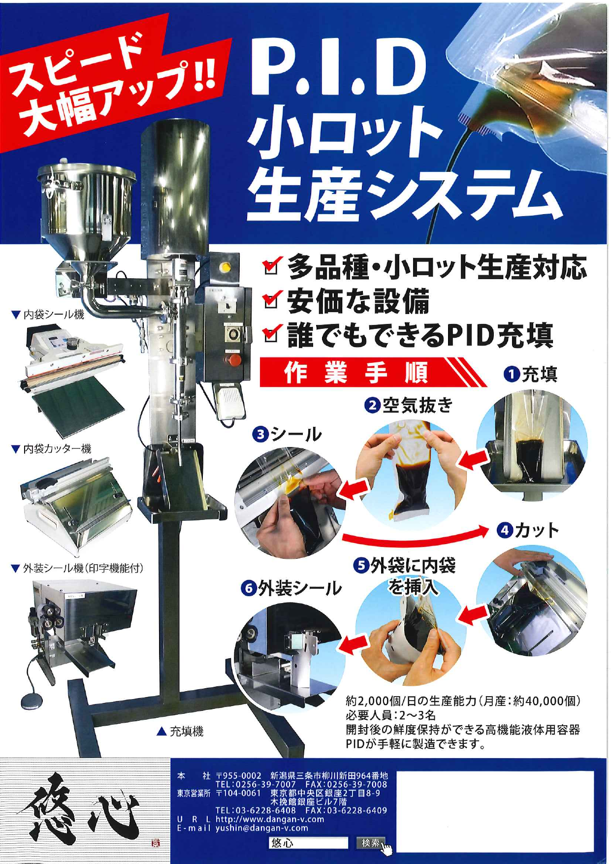 多種多様 P.I.D 小ロット生産システム