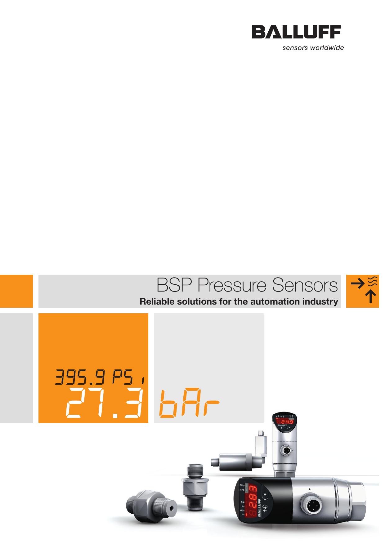 Bsp Pressure Sensors Balluff Wiring Diagram Aperza Catalog