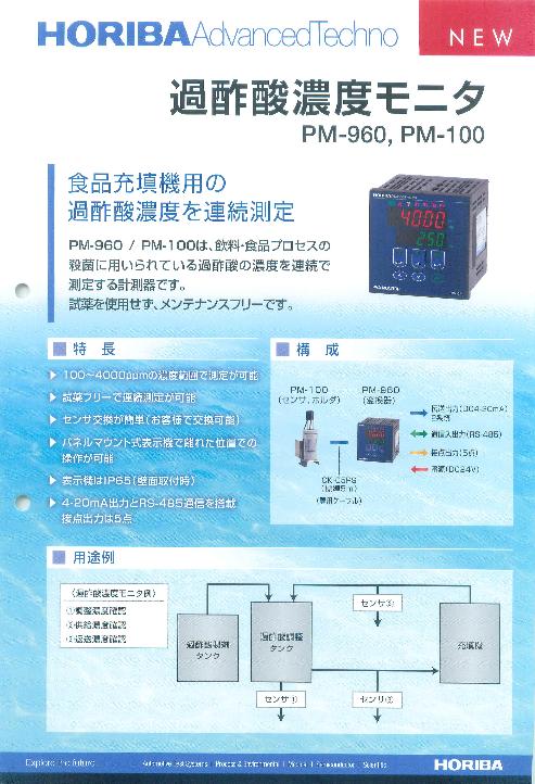 過酢酸濃度モニタ PM-960,PM-100