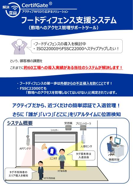 フードディフェンス支援システム CertifGate(R)
