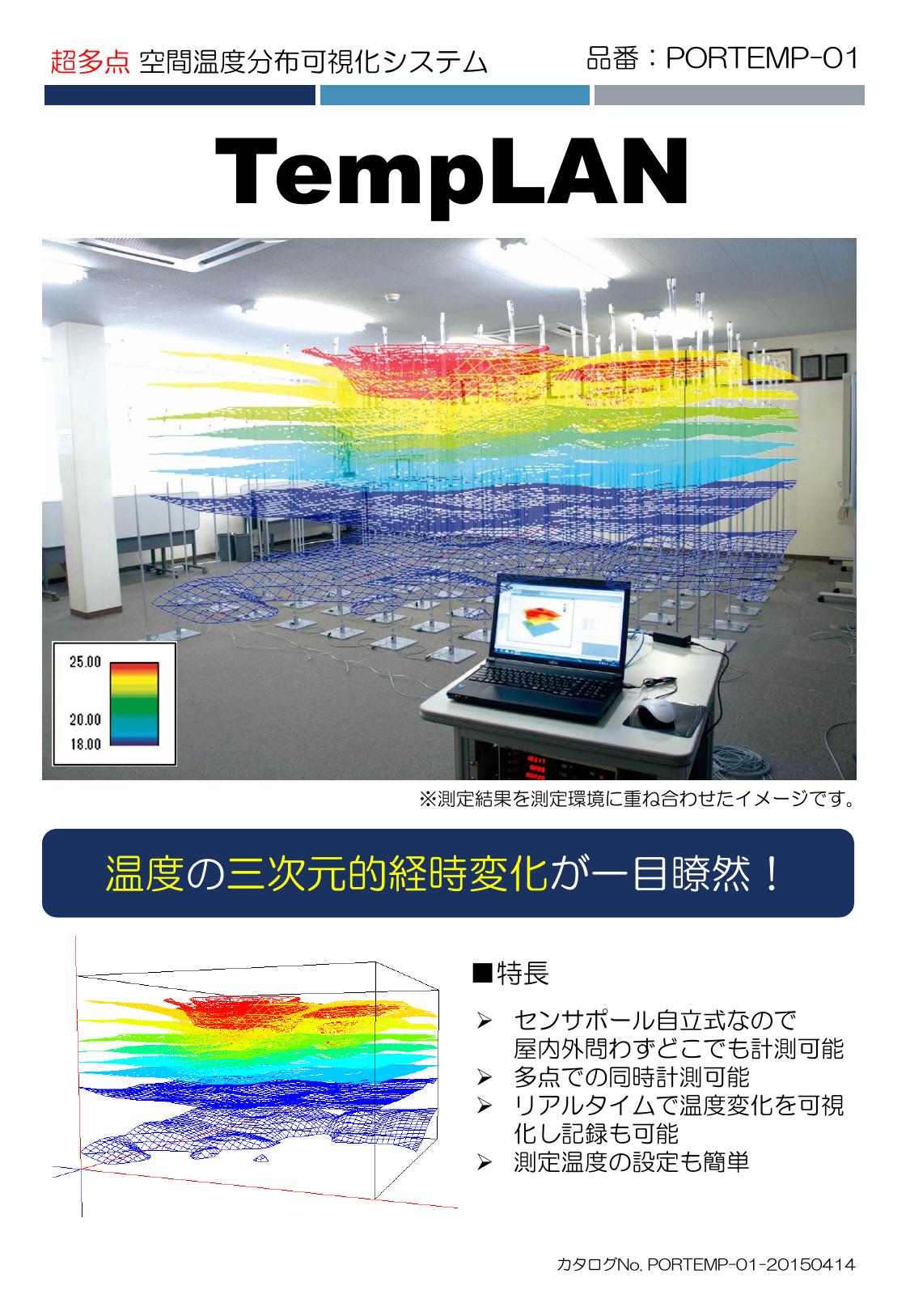 超多点空間温度分布可視化システム TempLAN