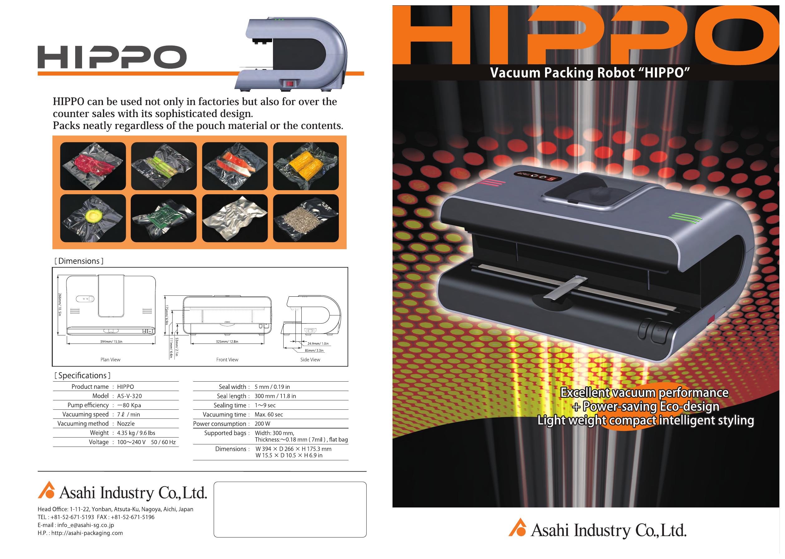 """Vacuum Pcking Robot """"HIPPO"""""""
