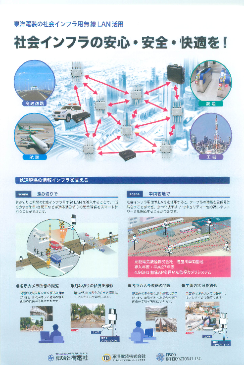 東洋電装の社会インフラ用無線LAN活用