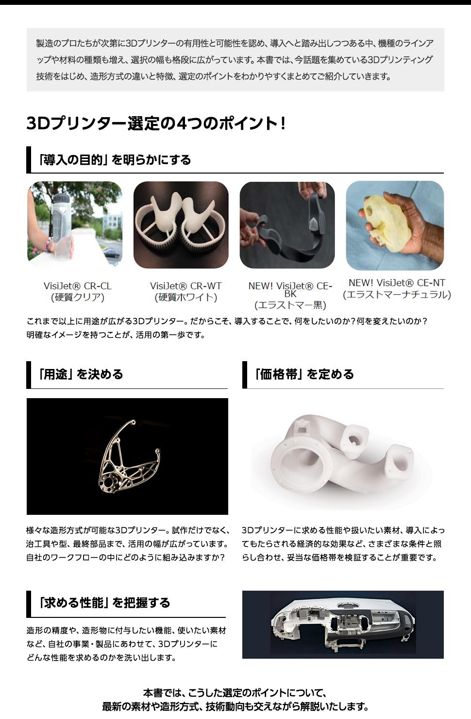 3Dプリンター選定の4つのポイント!