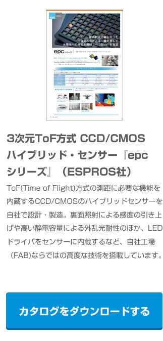 3次元ToF方式 CCD/CMOSハイブリッド・センサー『epcシリーズ』