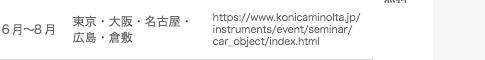 【測定事例を交えて、更に深く掘り下げてご紹介】自動車業界向け色彩計測(物体色)セミナー